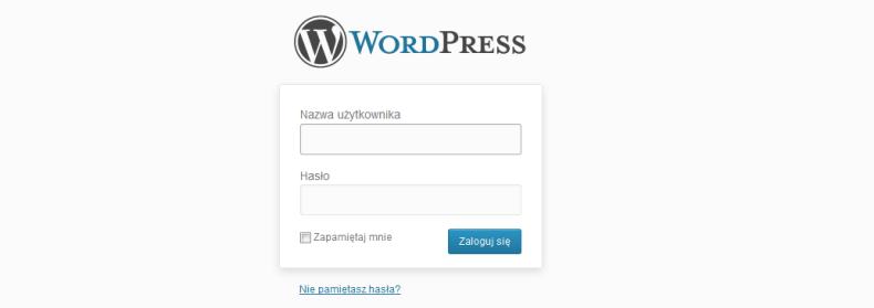 A ty jak logujesz się do WordPressa?