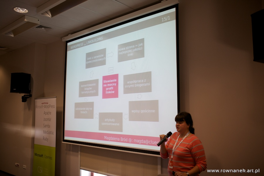 Wykład Magdaleny Brod na Wordcamp Wrocław 2013