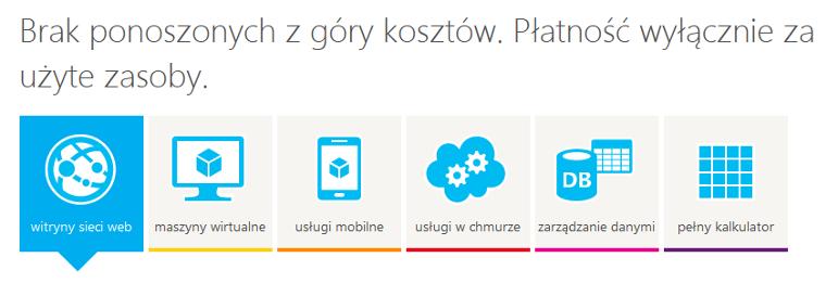 Kalkulator Windows Azure