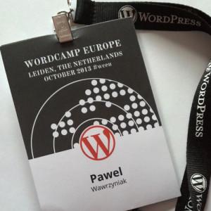 WordCamp Europe 2013 identyfikator WPSamurai.pl
