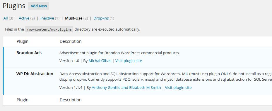 Brandoo WordPress - wtyczki